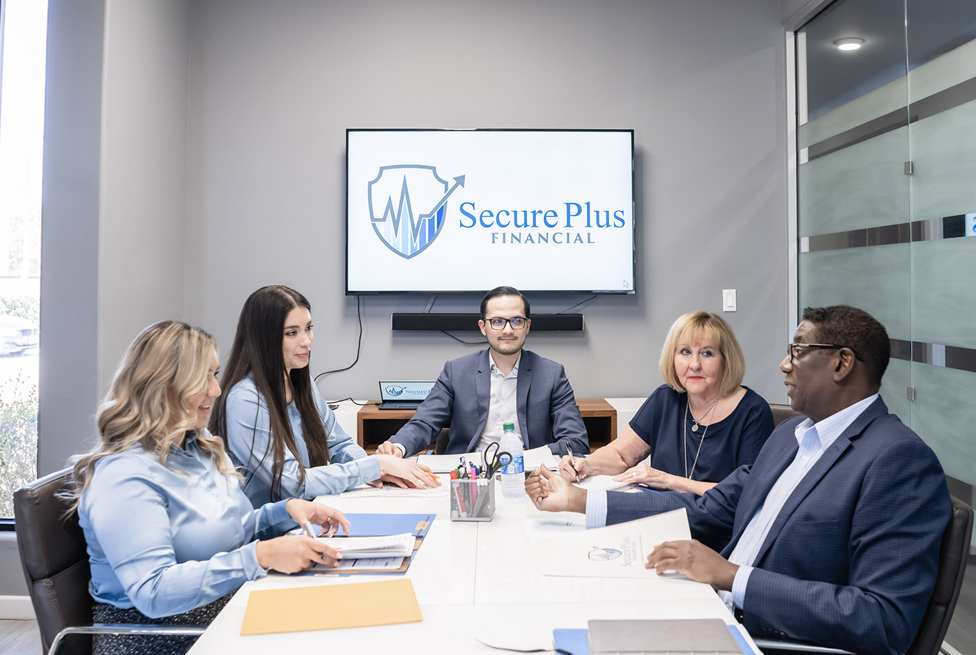 The Secure Plus Financial Team Analyzing a Financial Plan in Brownsville, TX